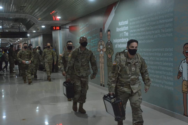 Ratusan Tentara Amerika Serikat Mulai Mendarat di Palembang