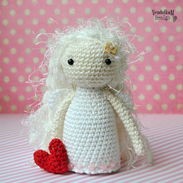 Crochet doll - angel - amigurumi