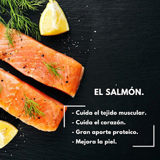 Salmon, proteina, piel