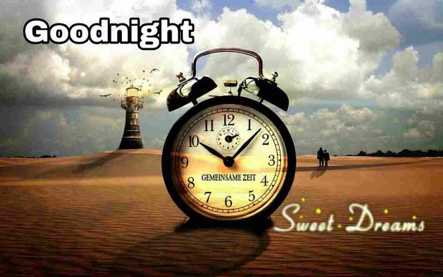 Good Night sweet dreams Image , photo , greetings of night clock