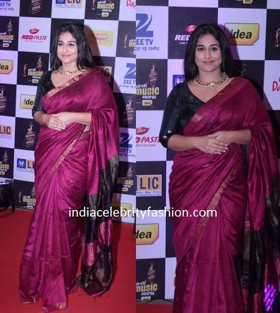 Vidya Balan in Saree at Mirchi Music Awards 2016