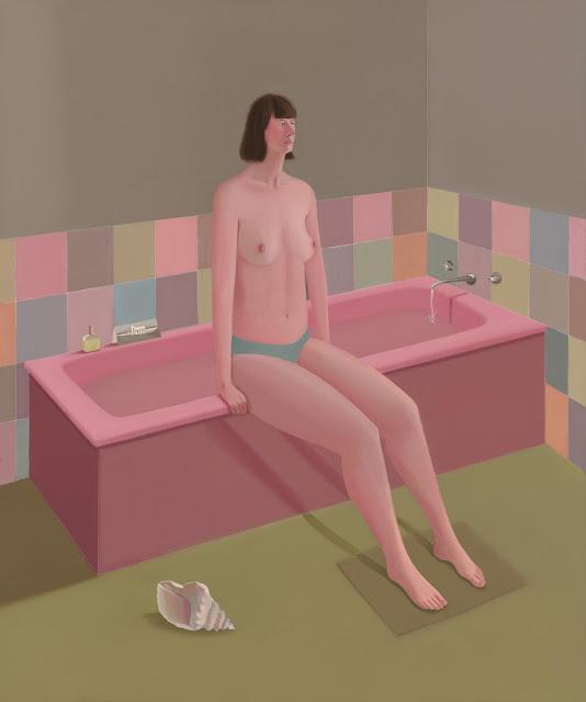 Prudence Flint, pinturas, imagenes de soledad femenina bonitas, chidas de arte inspirador, mujer instrospeccion,