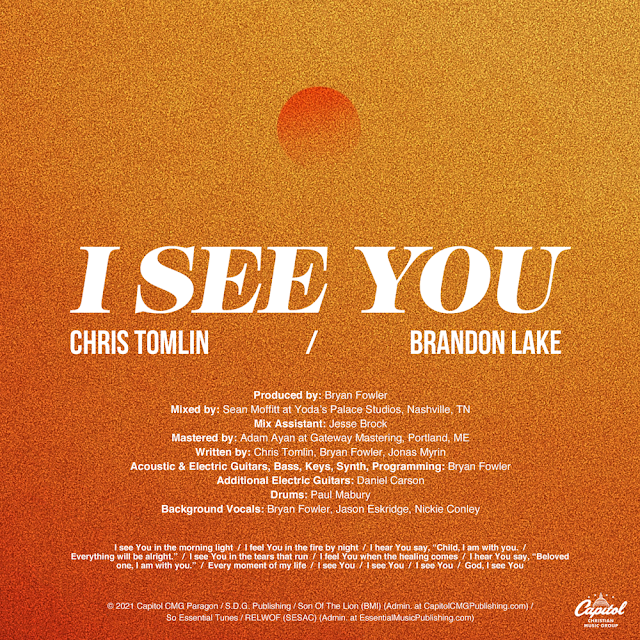 Audio: Chris Tomlin & Brandon Lake – I See You