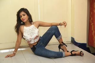 Deekshita Parvathi in a short crop top and Denim Jeans Spicy Pics Beautiful Actress Deekshita Parvathi January 2017 CelebxNext (165).JPG