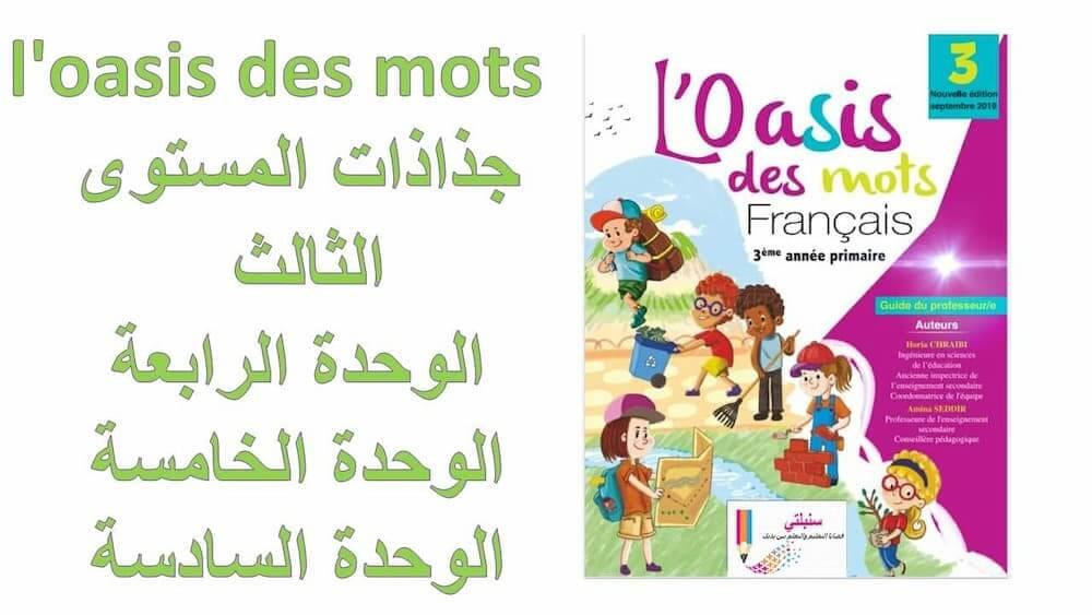 جذاذات الدورة الثانية للمستوى الثالث مرجع l'oasis des mots