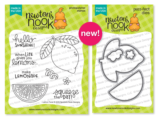 Lemon Twist | Lemon Stamp Set by Newton's Nook Designs #newtonsnook