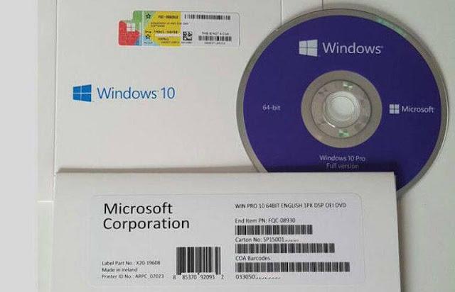 7. windows 10 product key di CD