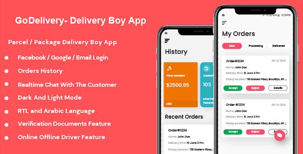 GoDelivery v1.0.1 - Delivery Software for Managing Your Local Deliveries - DeliveryBoy App