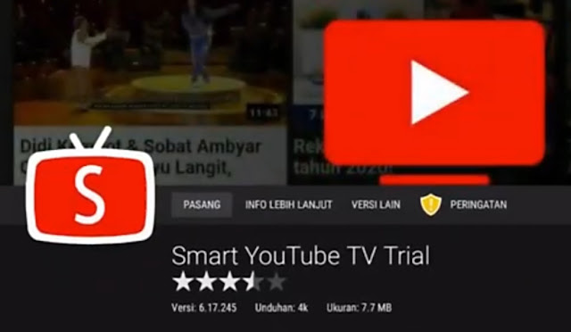 Pasang aplikasi Smart YouTube TV Trial