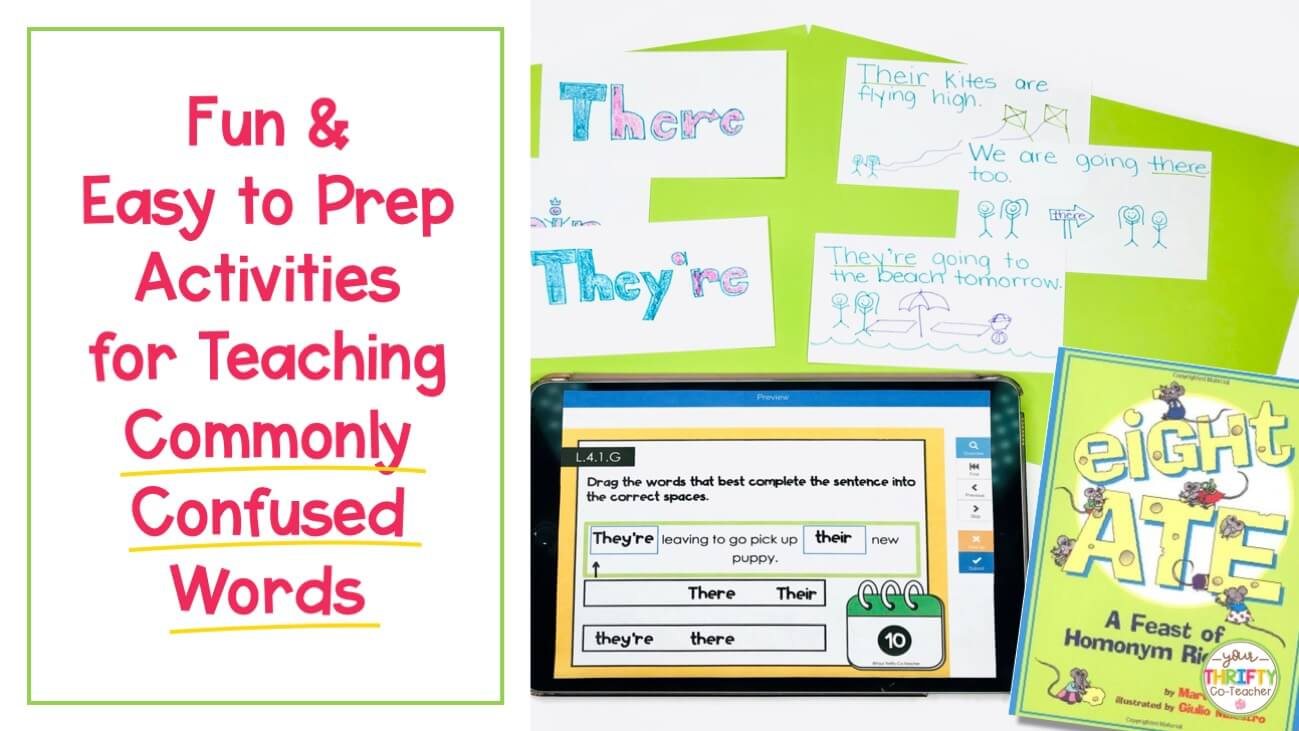 Fun \u0026 Easy to Prep Commonly Confused Words Activities - Your Thrifty  Co-Teacher [ 731 x 1299 Pixel ]