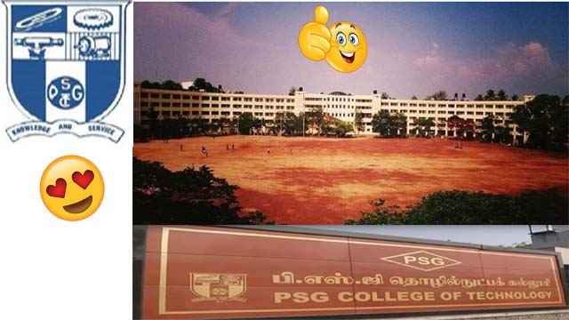 PSG College of Technology admission 2020