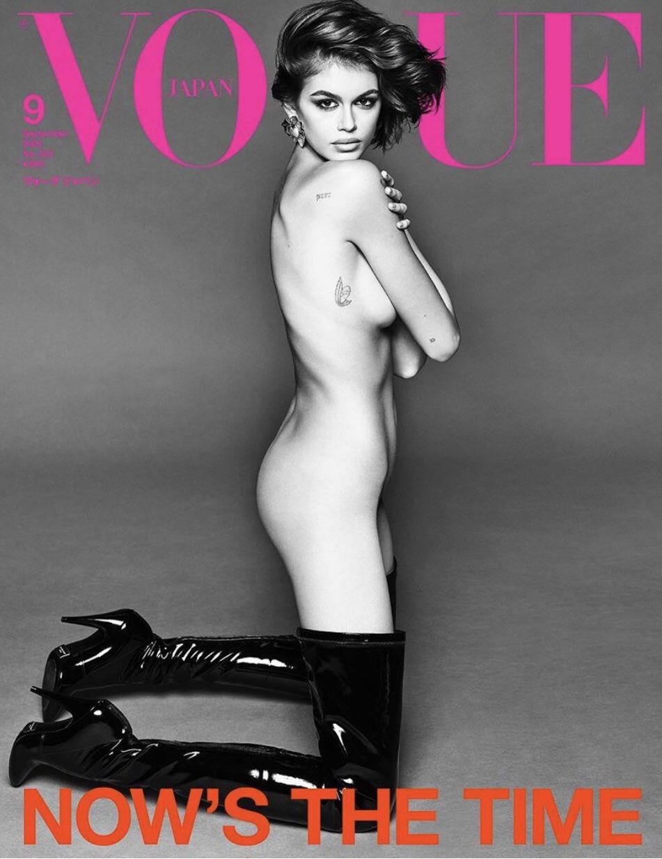 Kaia Gerber Photoshoot for Vogue Japan Magazine – September 2020