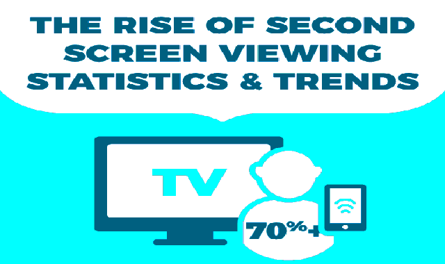 The Rise of Second Screen Viewing – Statistics and Trends #infographic