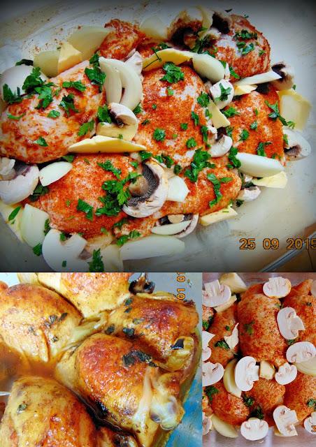 Pieczone bioderka z kurczaka Udka z kurczaka