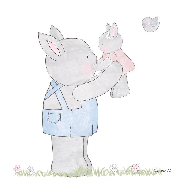 lámina de conejos
