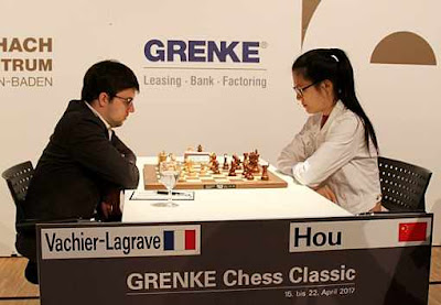 Hou Yifan en tête du Grenke Chess Classic - Photo © Georgios Souleidis