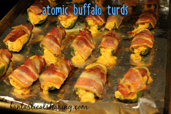 Atomic Buffalo Turds // These A.B.T.s are fantastically easy to make and stuffed to the brim with deliciousness #recipe #jalapenopopper #bacon #SundaySupper #gameday