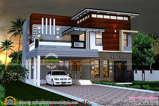September 2015 kerala home design and floor plans for Modern house design 2018 philippines