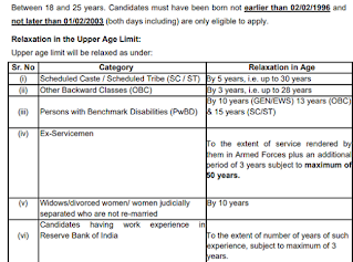 RBI Office Attendant Age limit