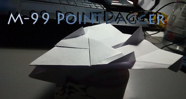 Avión de papel M-99