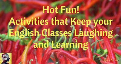 Blog With Friends, multi-blogger projects based on a theme. This month's theme is Hot Fun | Activities that Keep your English Classes Laughing and Learning by Kia of Think in English| Featured on www.BakingInATornado.com