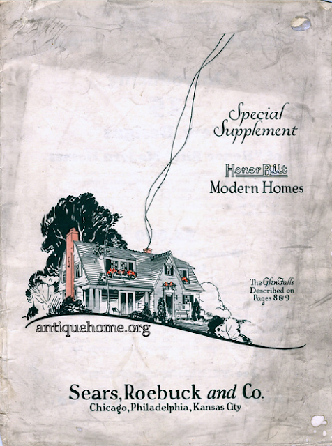 Daily Bungalow/AntiqueHome.org provided cover image of 1926 Sears Special Supplement Sears Modern Homes