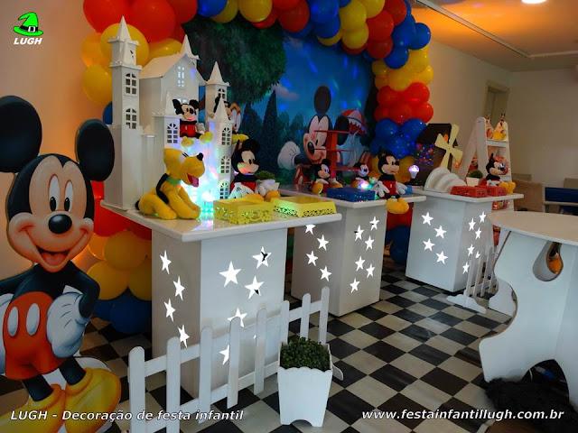 Decoração de aniversário Mickey Mouse - Provençal simples