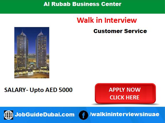 Job in dubai for customer service representstive