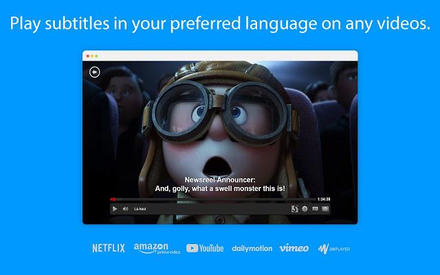 شاهد الافلام و المسلسلات الاجنبية بلغتك الأم #اضافة للترجمة الفورية