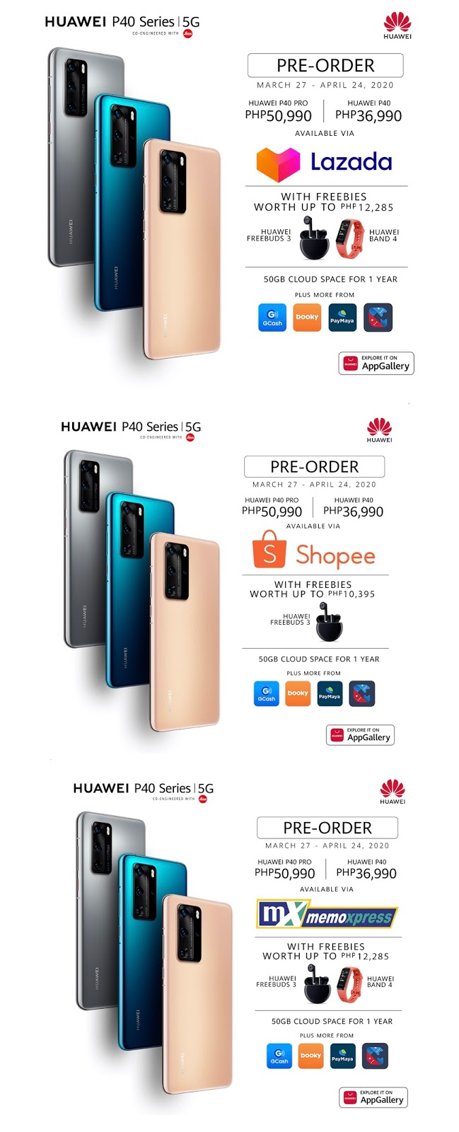 huawei p40 and p40 pro pre order