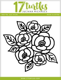 Rose Cluster Free Digital Cut File by Juliana Michaels 17turtles.com