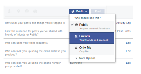 How can i hide my profile picture from public on facebook