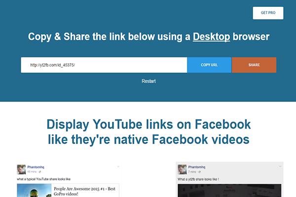 طريقة رفع عدد مشاهدات على اليوتيوب بتحويلها و كأنها فيديوهات على الفيس بوك