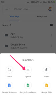 Memindah gambar ke Google drive