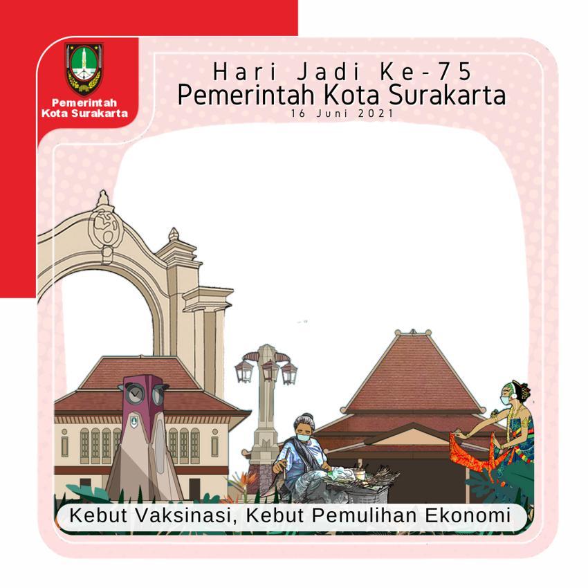Bingkai Foto Twibbon Hari Jadi Pemerintah Kota Surakarta ke-75