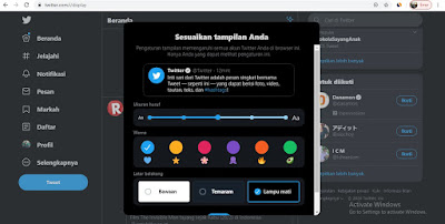 Cara membuat Twitter dark mode di android