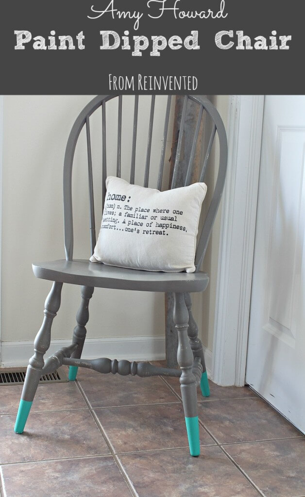 chalk paint chair makeover by Reinvented blog