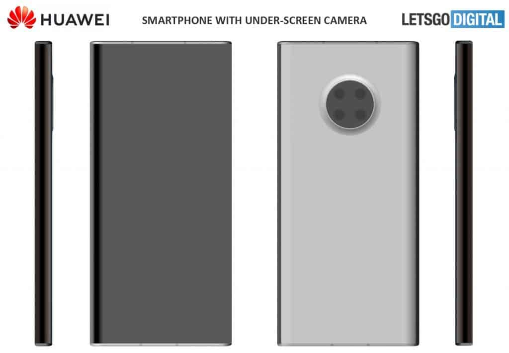 Huawei has filed a patent application for two cell phones