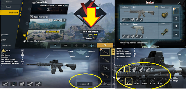 How to Set/ Change Loadout in TDM matches