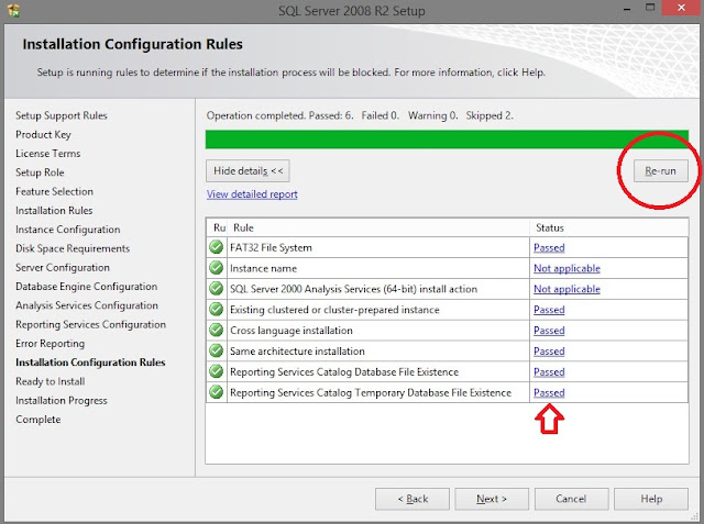 SQL Server 2008 Installation Error - Reporting Service Catalog Database File Existence 3