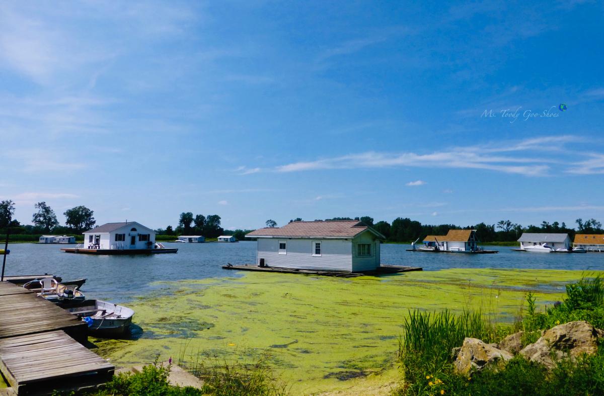 Houseboat Life on Horseshoe Pond, Erie, PA |  Ms. Toody Goo Shoes