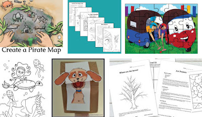 Activity pages for children's picture books