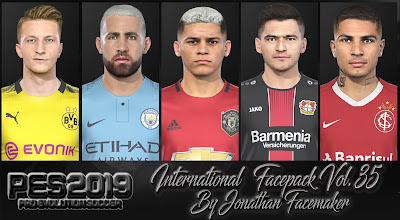 PES 2019 Facepack International Vol 35 by Jonathan Facemaker