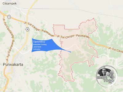 Peta Kecamatan Cipeundeuy, Kabupaten Subang