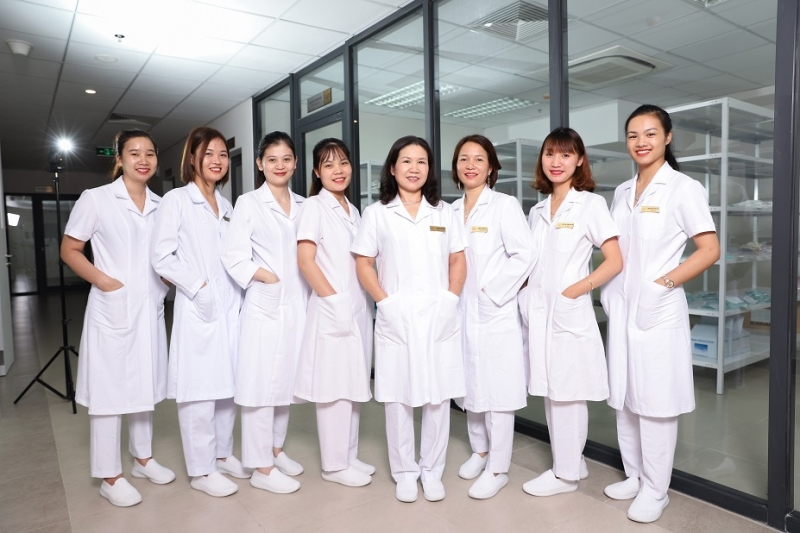 Mẫu đồng phục tại bệnh viện Việt Pháp - Hà Nội