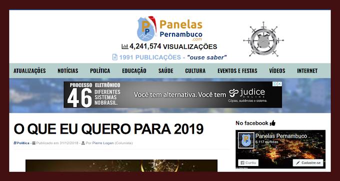 DESEJO DE PIERRE LOGAN PARA 2019