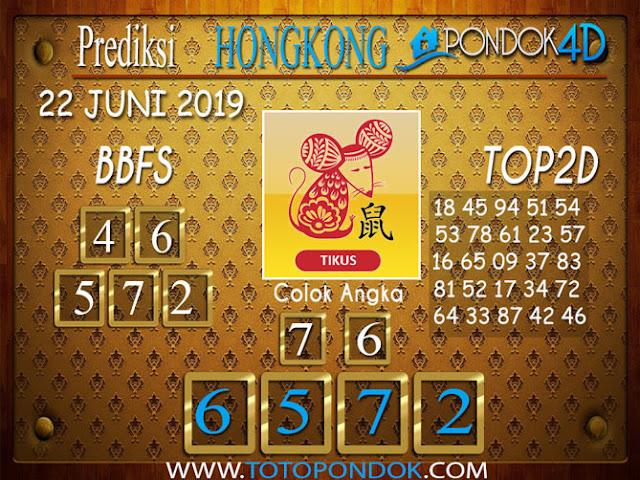 Prediksi Togel HONGKONG PONDOK4D 22 JUNI 2019