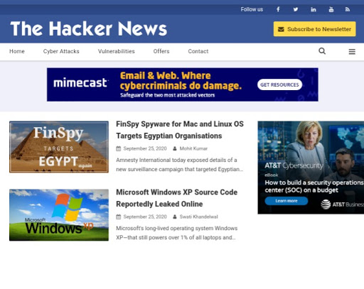The Hacker News Premium Blogger Template Download