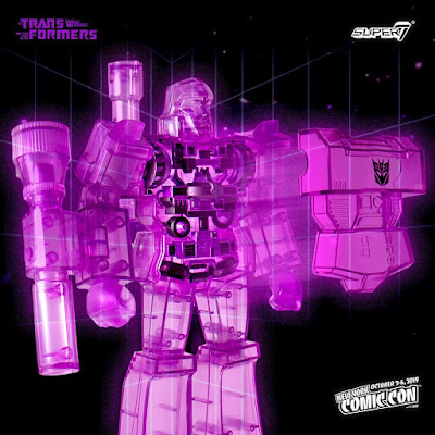 New York Comic Con 2019 Exclusive Transformers Super Cyborg Megatron Translucent Purple Edition Action Figure by Super7