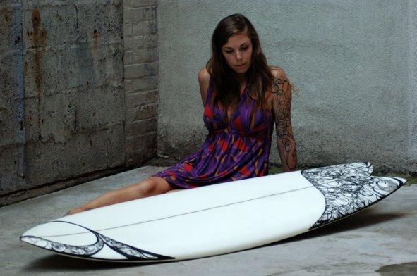 Alicia Nichols Surfboard Design